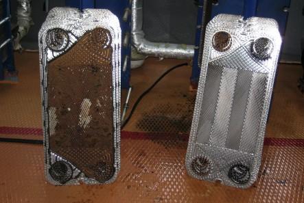 до и после механической очистки