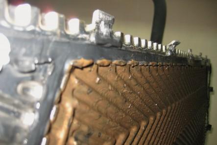 отложения на пластине теплообменника 1
